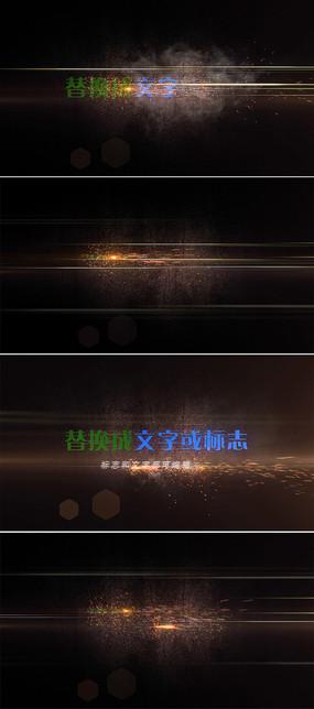 快速粒子光束雕刻标志片头模板