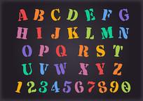 英文字体设计活泼变形