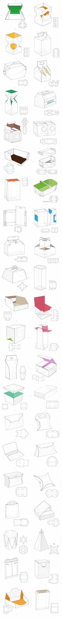 产品包装盒展开图包装设计