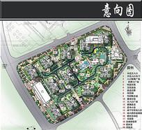 中渝滨江一号小区景观平面图