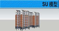 多层住宅SU模型