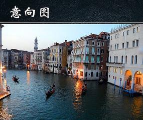 威尼斯运河夜景 JPG
