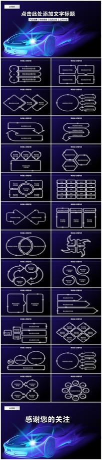 汽车行业产品发布PPT模板