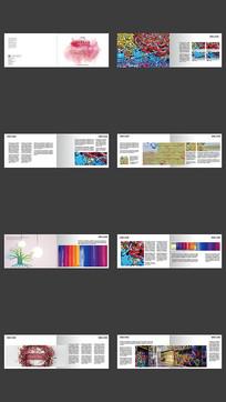 彩色画册设计模板