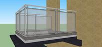 镇楼及栏杆效果图