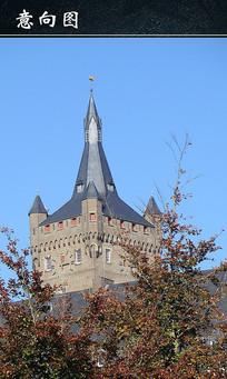 特色古堡尖顶建筑