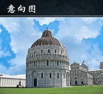 意大利古堡建筑图
