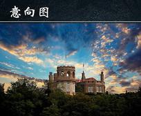 英国古堡建筑风景图