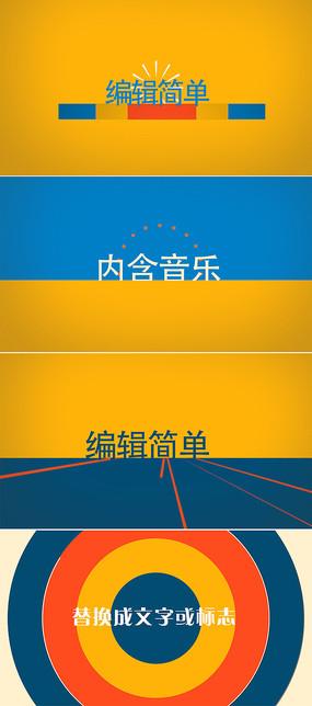 动感标题字幕动画标志片头模板