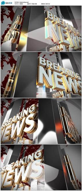 三维新闻背景视频