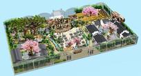 生态园景观PSD高清鸟瞰图
