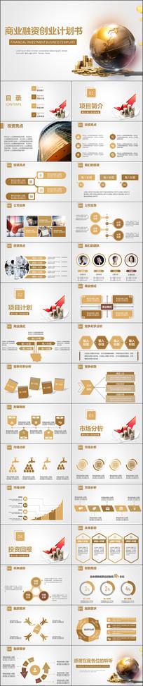 金色商业融资创业计划书PPT
