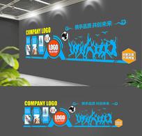蓝色企业创意文化墙