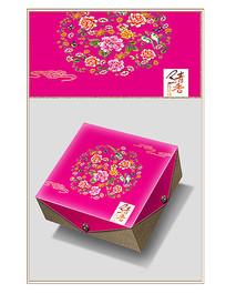 清香中秋月饼包装分层设计图