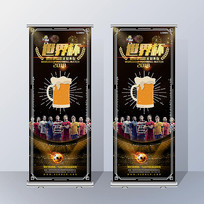 世界杯主题X展架设计