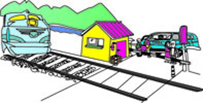 铁路安全插画