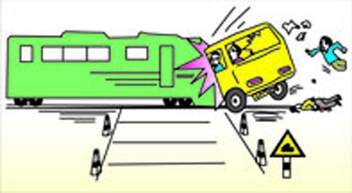 铁路安全插画-注意道口