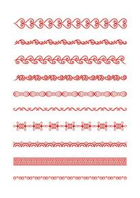中国古典花边纹样素材