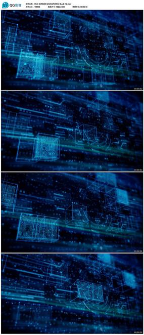蓝色科技背景视频