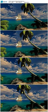 大海上的帆船视频