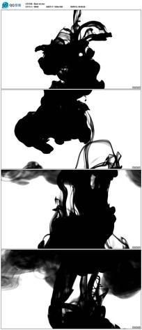 黑色水墨动画视频