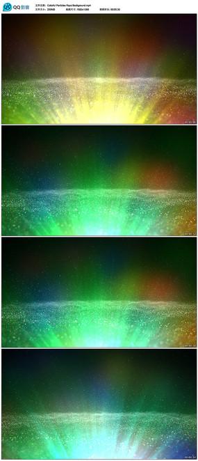 唯美粒子放射线光芒背景视频