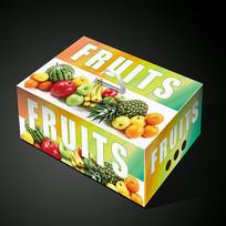 外国水果包装展开图
