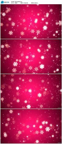 红色背景雪花视频