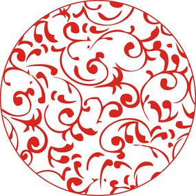 圆形雕刻图案