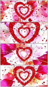 浪漫玫瑰花婚礼开场舞台LED