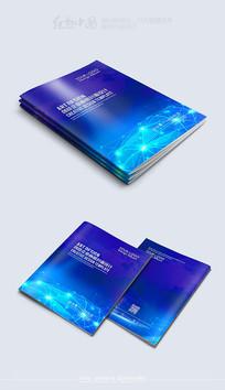创意大气蓝色封面素材