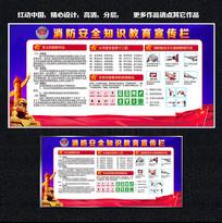 大气消防安全知识宣传展板设计