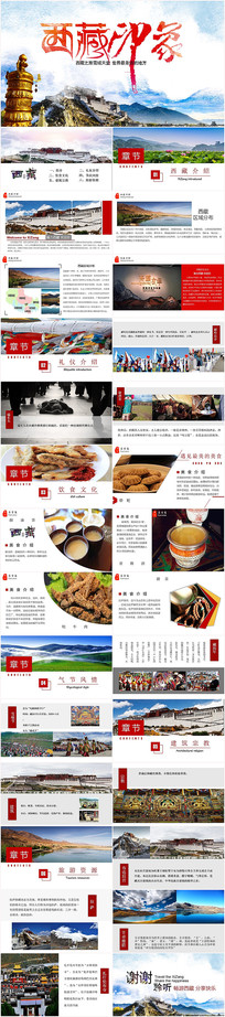 西藏文化藏族文化PPT动态