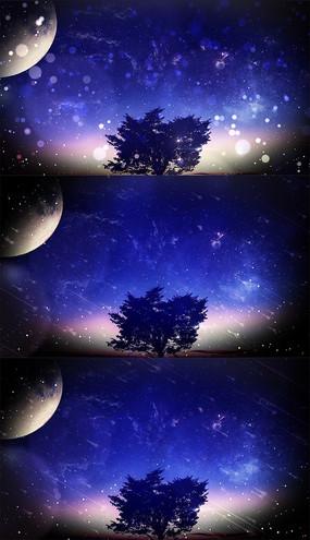 夜空中最亮的星舞台背景视频