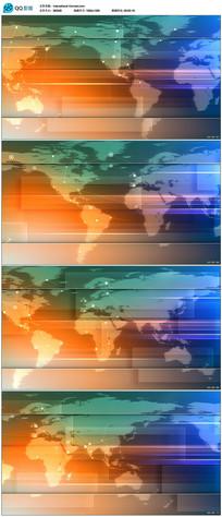 世界地图连线视频