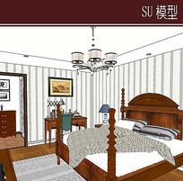 卧室家具组合模型