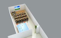培训教室3D模型