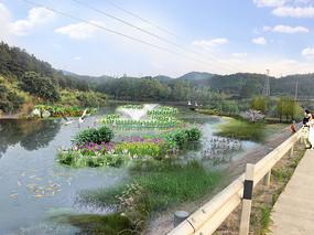 水库湿地风景区psd源文件