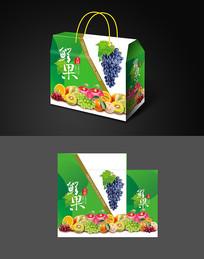 绿色手提水果包装设计