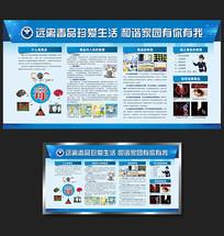 毒品知识宣传栏展板设计