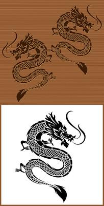 中国传统龙图腾矢量图