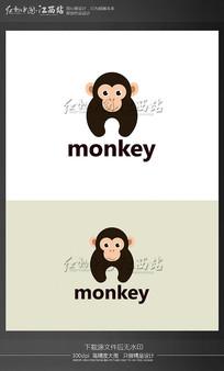 创意猴子动物logo