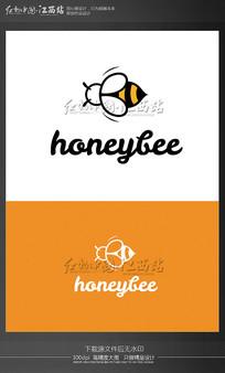 创意蜜蜂蜂蜜logo