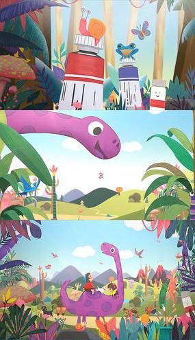 卡通水彩儿童栏目AE模板