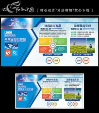 蓝色企业班组看板企业文化墙