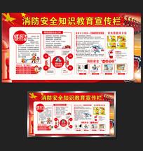 消防安全宣传栏展板设计