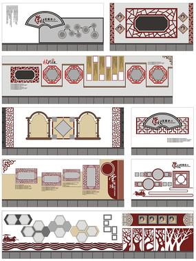 校园文化学校历史沿革墙面设计
