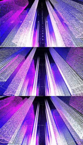彩色数据建筑背景视频素材