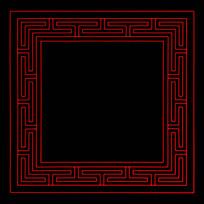 方形传统纹饰花边边框