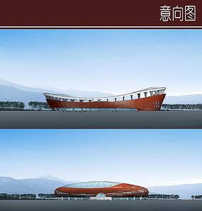 体育馆建筑立面图